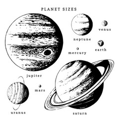 Solar system infographics in hand drawn vector