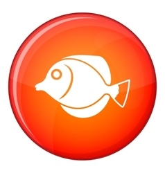 Tang fish zebrasoma flavescens icon flat style vector