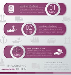 Template transportation infographic icon and steps vector image