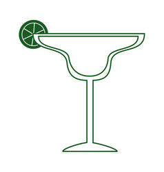tequila cocktail with lime cinco de mayo mexican vector image