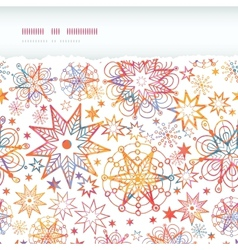 Textured Christmas Stars Horizontal Torn Seamless vector image