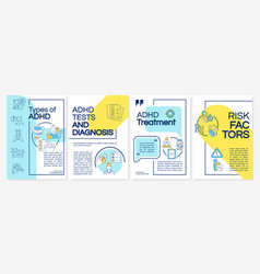 Types of adhd brochure template vector