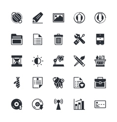 User interface and web colored icons 5 vector