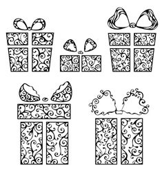 Vintage gifts vector