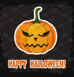 vintage happy halloween template vector image