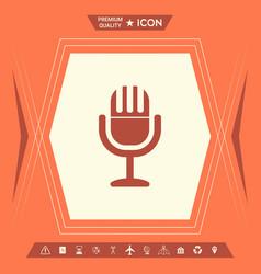 vintage microphone symbol icon vector image