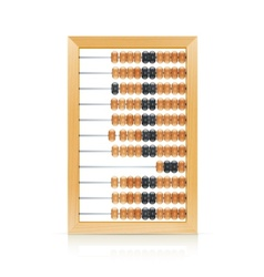 vintage wooden abacus vector image