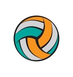 Volleyball flat symbol vector