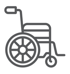 wheelchair line icon medical and equipment vector image