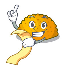 with menu fried patties isolated on the mascot vector image
