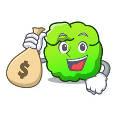 with money bag shrub character cartoon style vector image