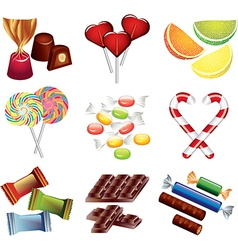 candy set vector image vector image