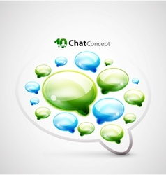 Chat clouds background vector image