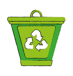 green ecology and enviroment icon vector image