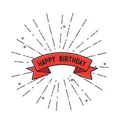 Happy birthday flat design poster vector image vector image