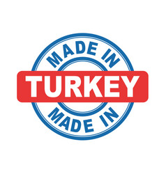 made in turkey emblem flat vector image vector image