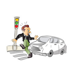 road safety vector image
