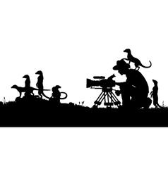 Wildlife cameraman vector image