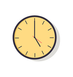 yellow clock isolated on vector image