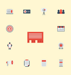 Flat icons audience man with banner letter and vector