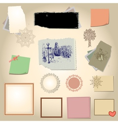 set scrapbook vector image