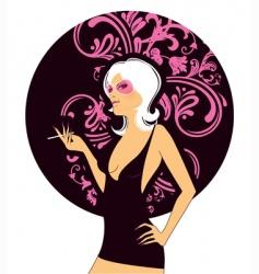 sexy pink women vector image vector image