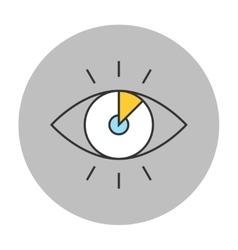 Vision concept line icon vector image vector image