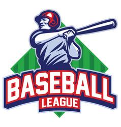 Baseball player hit the ball vector
