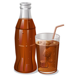 cold cola drink vector image vector image