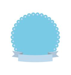 label decoration ribbon card vector image