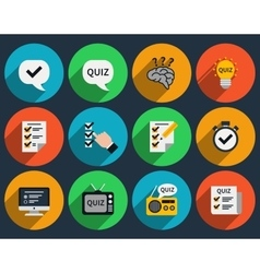 Mind games and quizzes flat icons vector image vector image