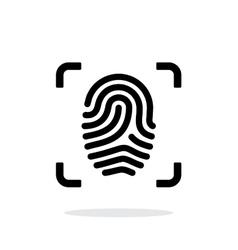 Scanning finger icon on white background vector image