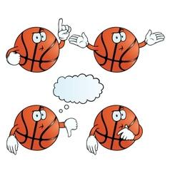 Thinking basketball set vector image