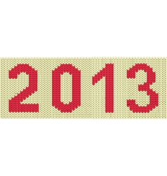 2013 woven numbers vector image vector image