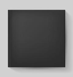 Black notebook vector image