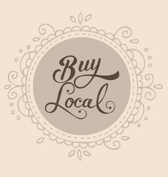 Buy local text sign symbol badge label vector