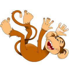 happy monkey vector image