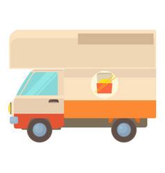 Street food truck icon cartoon style vector