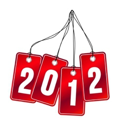 2012 hanging labels vector
