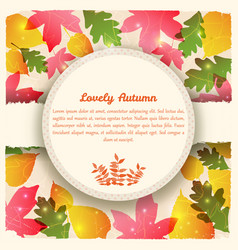 abstract colorful autumn template vector image
