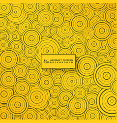 abstract gold circle pattern design background vector image