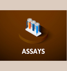 Assays isometric icon isolated on color vector