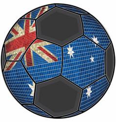 Australia flag with soccer ball background vector