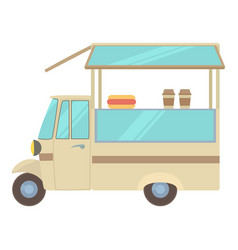 Auto cafe icon cartoon style vector