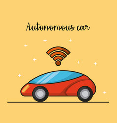 Autonomous car driverless vehicle sensor vector