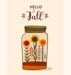 autumn cute design for card vector image