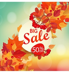 Big sale - autumn background vector image