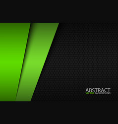 Black and green modern material design vector