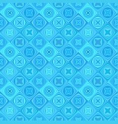 blue geometric diagonal curved shape tile mosaic vector image
