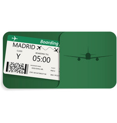 boarding pass for travel by airplane vector image